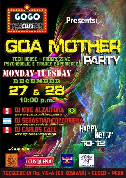 "Party Flyer ""Goa Mother"" 27 Dec '10, 22:00"