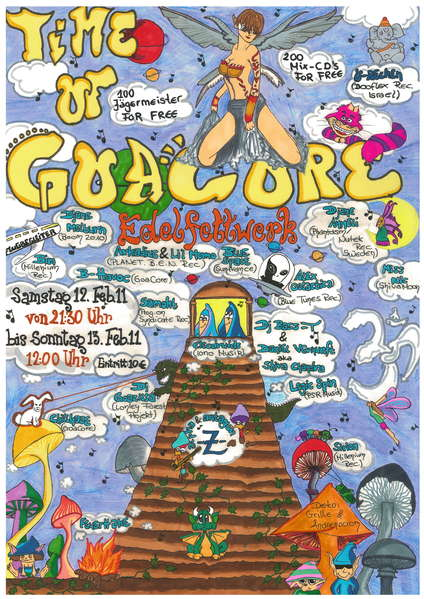 Party Flyer The Time of Goacore -- B-day -- Part II 12 Feb '11, 21:30