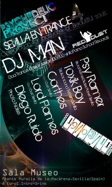 Party Flyer SEVILLA EN TRANCE IV •٠•●ૐ●•٠• Psychedelic Proyect •٠•●ૐ●•٠• 19 Mar '11, 23:00
