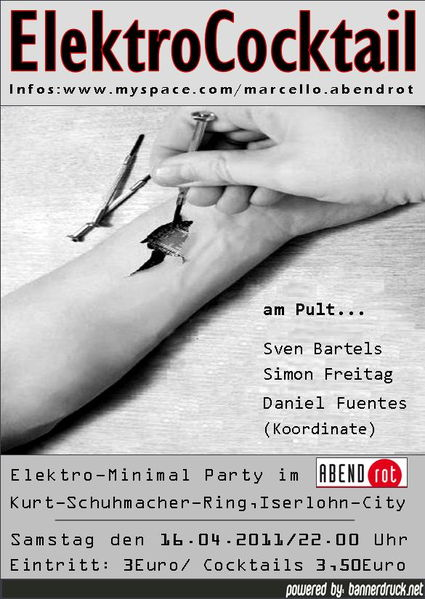 Party Flyer ElektroCocktail 16 Apr '11, 22:00