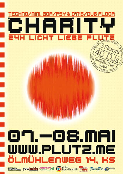 Party Flyer CHARITY LICHT-LIEBE-PLUTZ (24 H FOR JAPAN) 7 May '11, 23:00