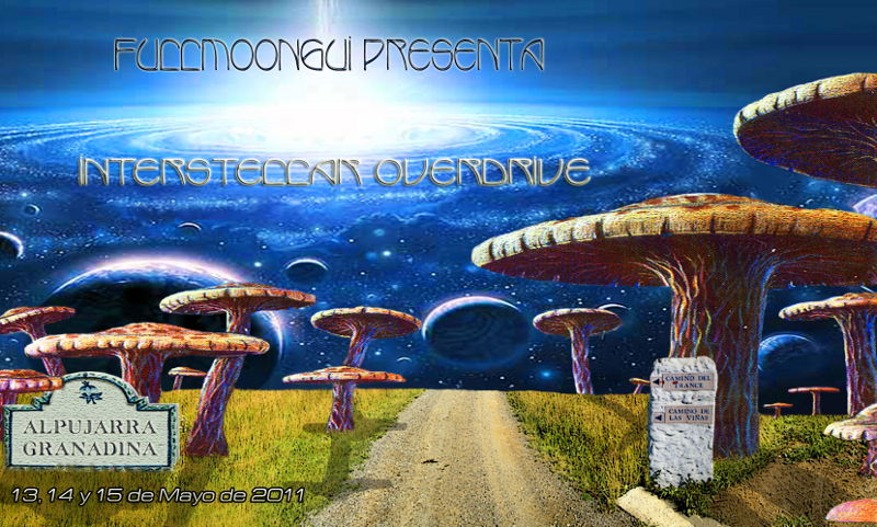 Party Flyer Fullmoongui - Interstellar overdrive 13 May '11, 22:00