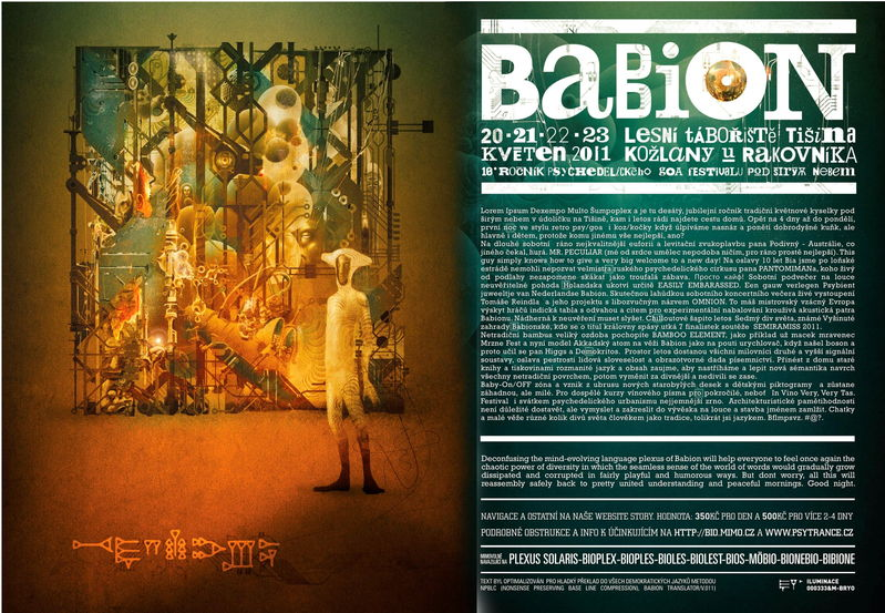 Party Flyer BABION festival 20 May '11, 22:00