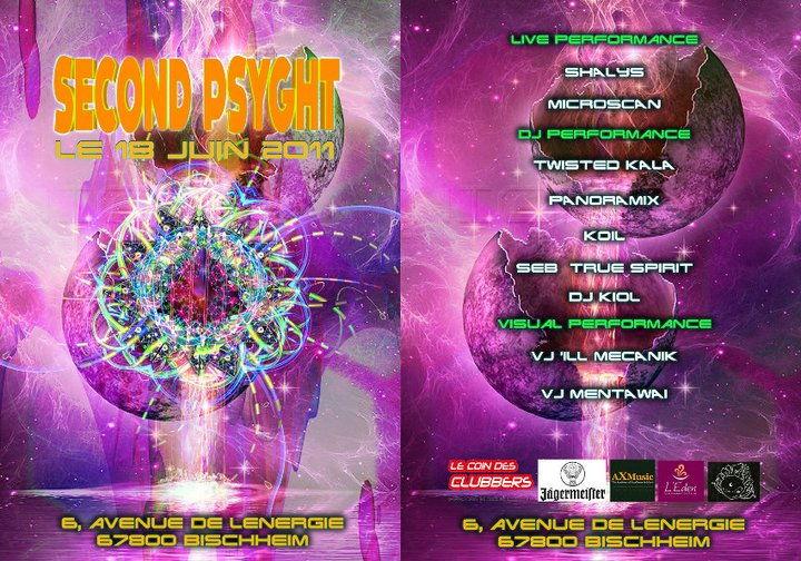Party Flyer Second Psyght 18 Jun '11, 22:00