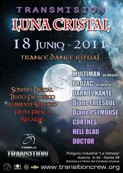 Party Flyer Transmision Cristal 18 Jun '11, 22:00