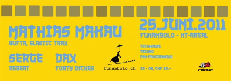 Party Flyer FUNAMBOLO REBEATED 25 Jun '11, 23:00