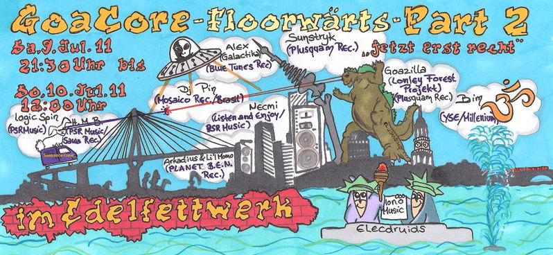 Party Flyer GoaCore - ♥ Floorwärts ♥ - Part 2 9 Jul '11, 21:30