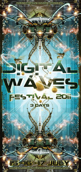 Party Flyer DIGITAL WAVES - Psychedelic Music Festival (II edition 2011) 15 Jul '11, 18:00
