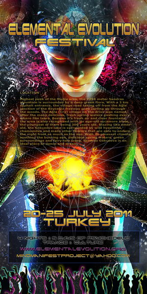 Party Flyer ELEMENTAL EVOLUTION 2011 20 Jul '11, 12:00