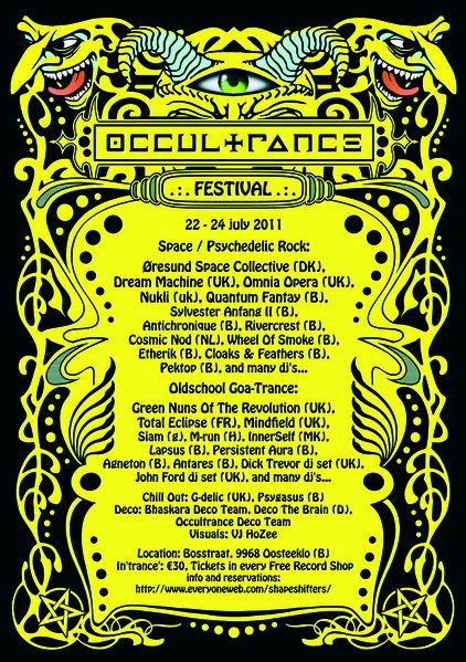 Party Flyer OcCulTranCe Festival II 22 Jul '11, 17:00