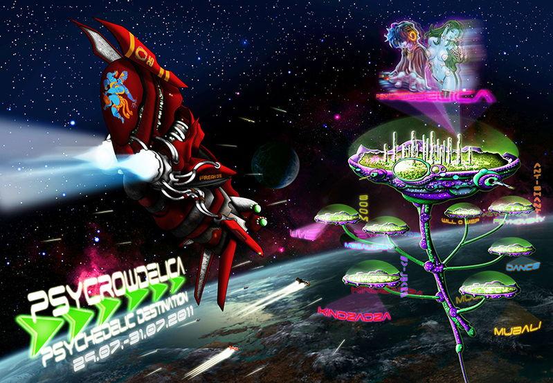 Party Flyer PsyCrowDelica --- Psychedelic Destination 29 Jul '11, 08:00