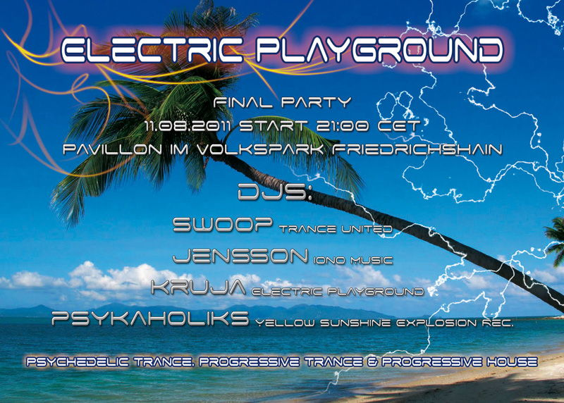 Party Flyer Electric Playground (Final) 11 Aug '11, 21:00