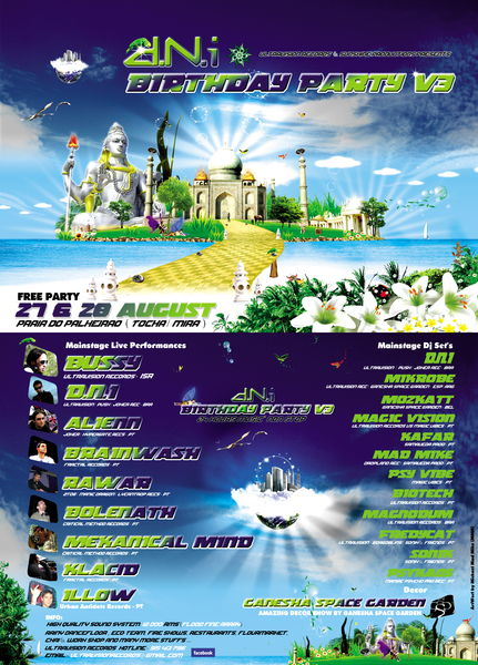 Party Flyer d.N.I Birthday Party V3 (3rd Edition) FREE PARTY 27 Aug '11, 18:00