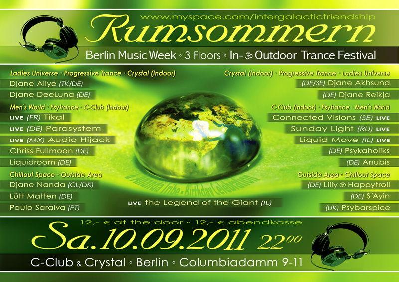 Party Flyer RUMSOMMERN 2011 (2 floors & outdoor-area) 10 Sep '11, 22:00