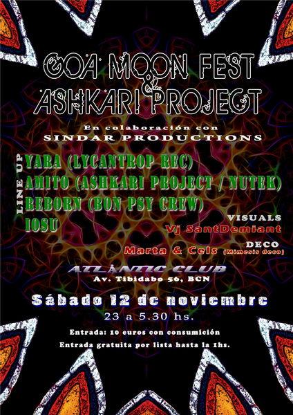 GOA MOON FEST & ASHKARI PROJECT 12 Nov '11, 23:00