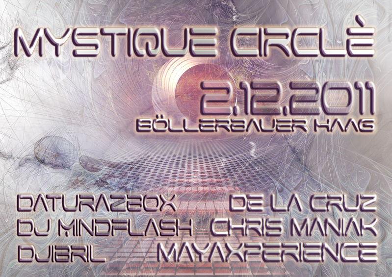 Party Flyer MYSTIQUE CIRCLÈ 2 Dec '11, 21:00