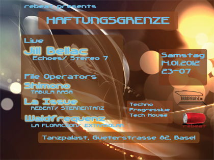 Party Flyer HAFTUNGSGRENZE 14 Jan '12, 23:00