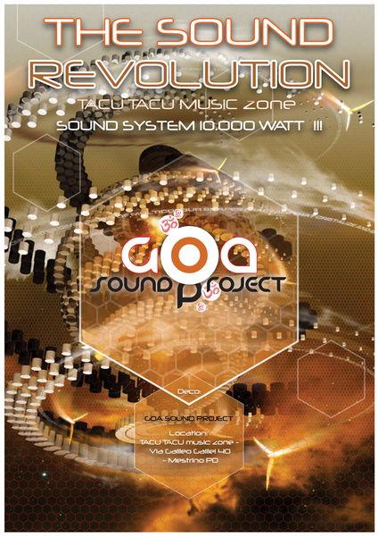 Party Flyer THE SOUND REVOLUTION - 1°time - MinD OscillatioN LivE !!! 14 Jan '12, 22:00