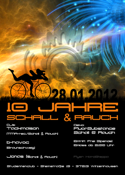 Party Flyer 10 Jahre Schall & Rauch 28 Jan '12, 21:00