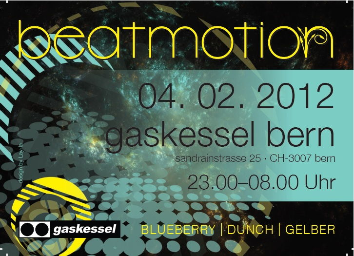 Party Flyer Beat Motion 4 Feb '12, 23:00