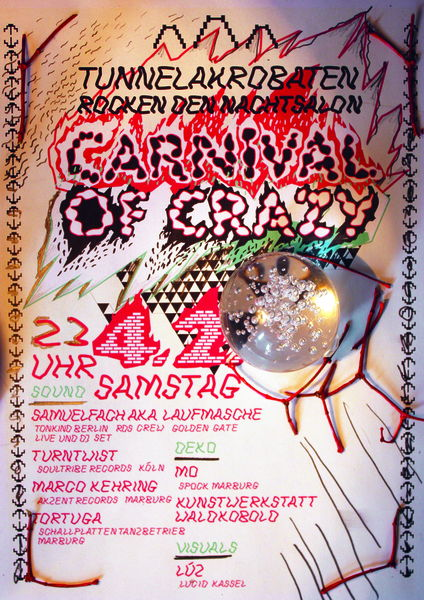 Party Flyer CARNIVAL OF CRAZY - TUNNELAKROBATEN 4 Feb '12, 23:30