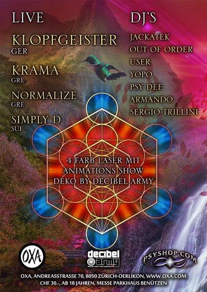 Party Flyer Goa Elements 4 Feb '12, 23:00