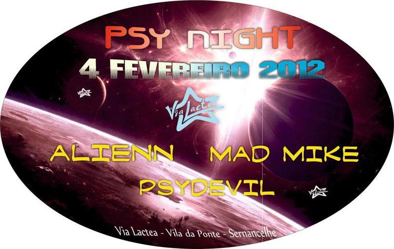 Party Flyer Psy Night 4 Feb '12, 23:00