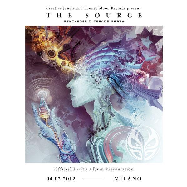 Party Flyer THE SOURCE - DUST Album Release Party - 4 Feb '12, 23:00