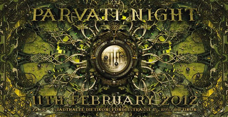 Party Flyer Parvati Night 11 Feb '12, 22:00