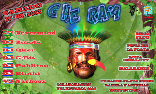 Party Flyer CHE RA'A 10 Mar '12, 23:30