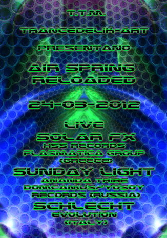 "Party Flyer @"""" AIR SPRING RELOADED""""@ _International Artist_ 24 Mar '12, 23:00"