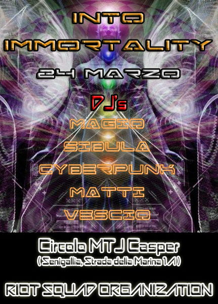 Party Flyer ॐ INTO IMMORTALITY ॐ 24 Mar '12, 23:30