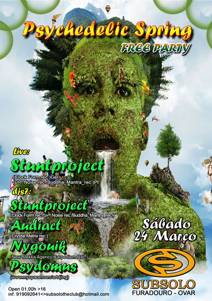 Party Flyer PSYCHEDELIC SPRING 24 Mar '12, 23:30