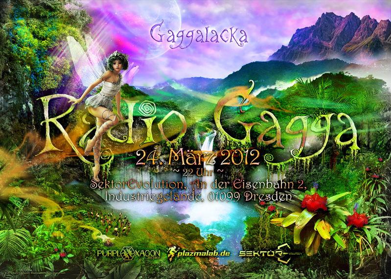 Party Flyer RADIO GAGGA 2012 - with Drumatik live 24 Mar '12, 22:00