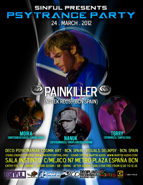 SINFUL PRESENTS... PAINKILLER / NANUK / TORRY / MOIRA 24 Mar '12, 23:30