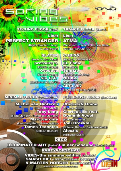 Party Flyer SPRING VIBES 24 Mar '12, 22:00