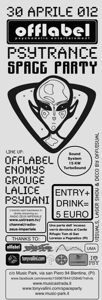 OFFLABEL PSYTRANCE SPACE PARTY 30 Apr '12, 22:00