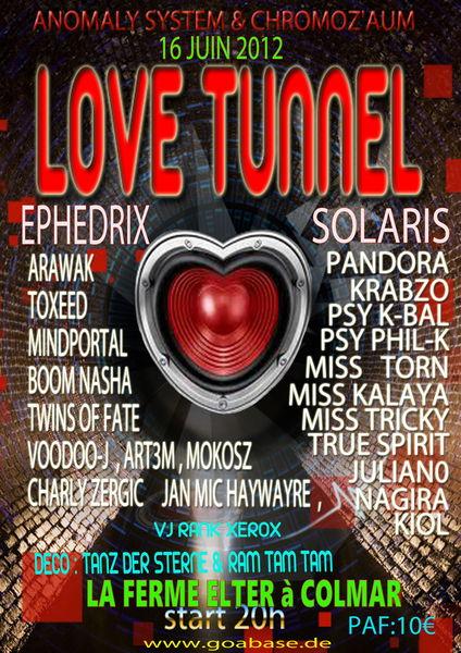 Party Flyer ●●● LOVE TUNNEL ●●● 16 Jun '12, 20:00