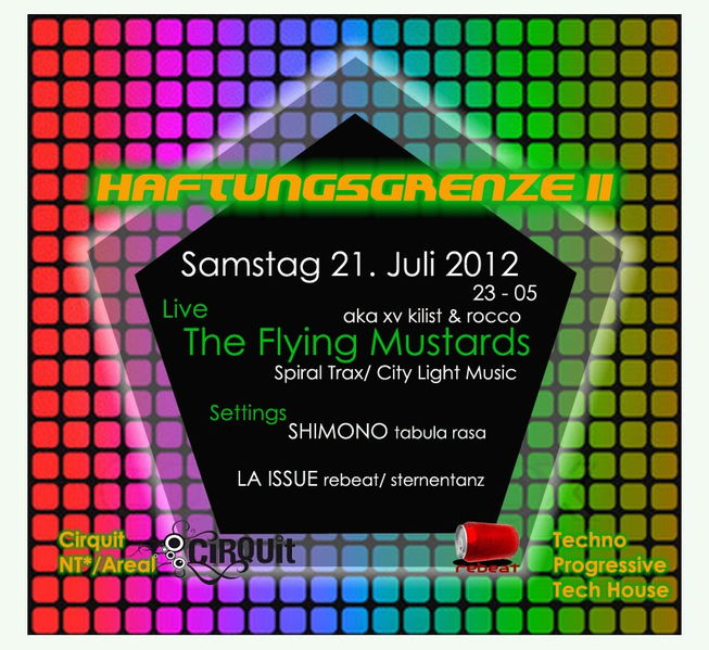 Party Flyer HAFTUNGSGRENZE II 21 Jul '12, 22:00
