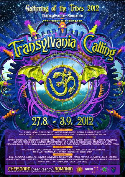 Party Flyer Transylvania Calling 2012 special edition 27 Aug '12, 18:00