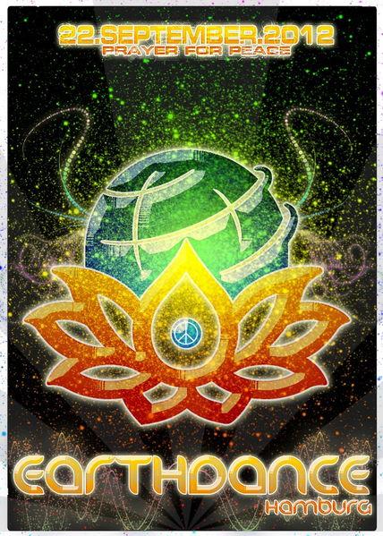 Party Flyer Earthdance Hamburg - Global Festival For Peace 22 Sep '12, 20:00