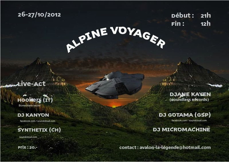 Party Flyer ALPINE VOYAGER EXPERIENCE 26 Oct '12, 21:00