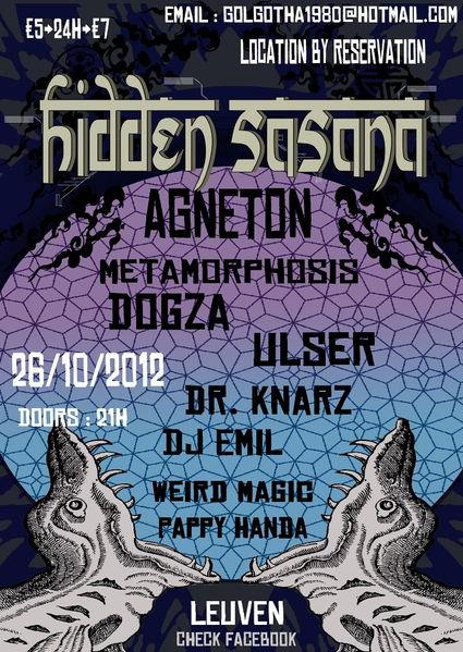 Party Flyer Hidden Sasana 26 Oct '12, 22:00
