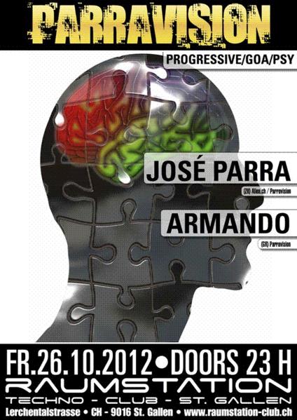 Party Flyer Parravision 26 Oct '12, 23:00