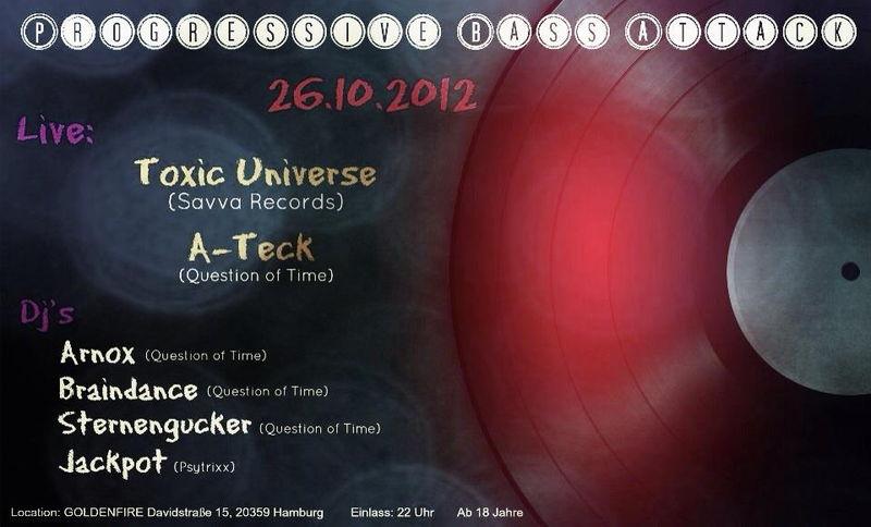 Party Flyer ★★★ Progressive Bass Attack ★★★ 26 Oct '12, 22:00