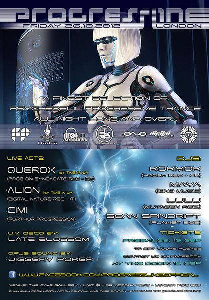 Party Flyer PROGRESSLINE 26 Oct '12, 22:00