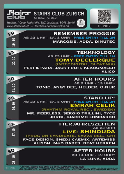 Party Flyer Stand Up! mit Emrah Celik @ Stairs Club Zürich 26 Oct '12, 23:00