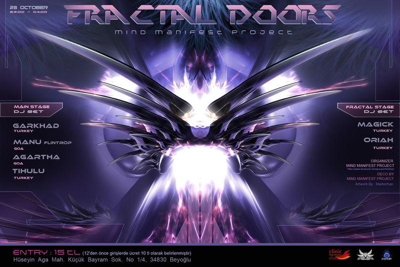 Party Flyer FRACTAL DOORS 28 Oct '12, 23:00