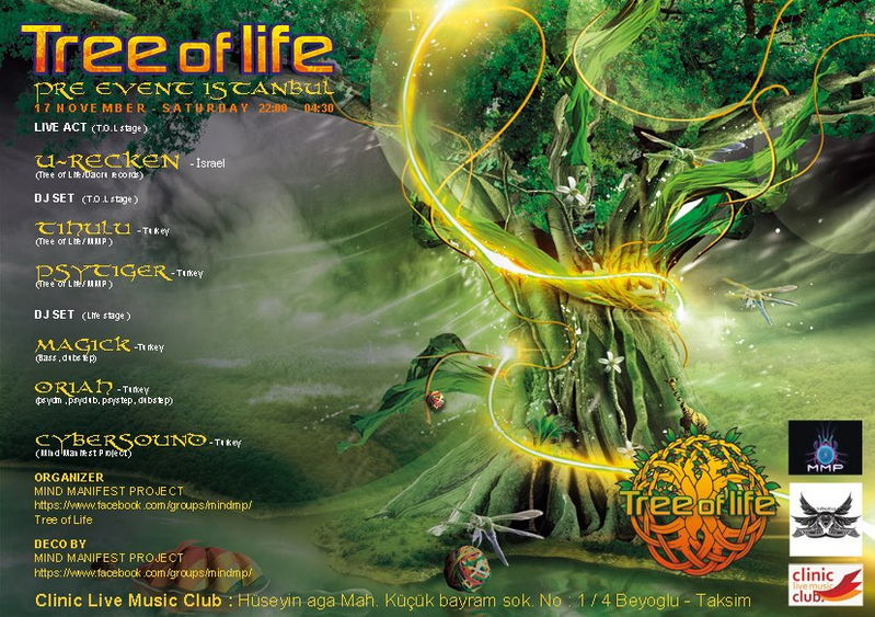 Party Flyer TREE OF LIFE PRE EVENT @ ISTANBUL 17 Nov '12, 22:00