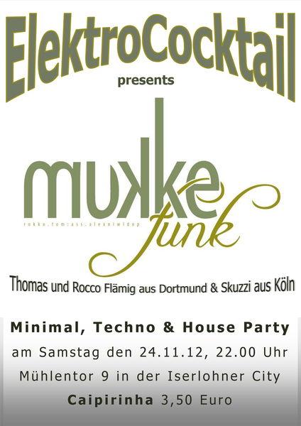 Party Flyer ElektroCocktail 24 Nov '12, 22:00